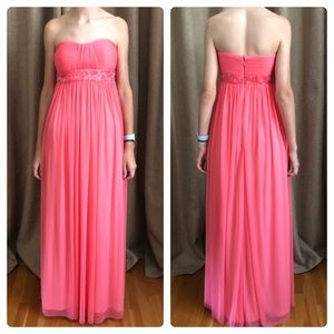 Cache coral strapless formal dress/ 0